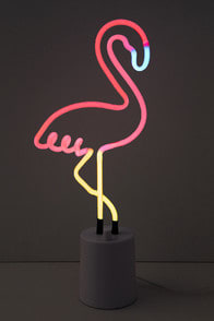 FLAMINGO PINK LARGE NEON LIGHT at Lulus.com!