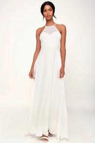 Night of Romance White Sleeveless Maxi Dress at Lulus.com!