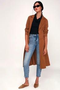 Devonshire Tan Trench Coat at Lulus.com!
