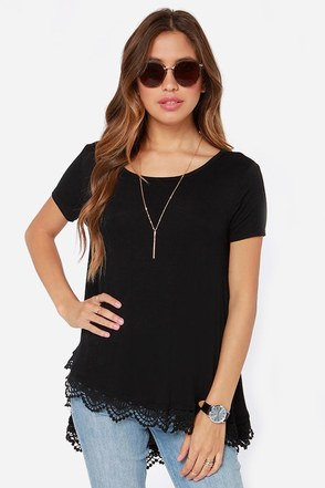 Trapeze-y Rider Oversized Black Top