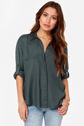 RVCA Talons Charcoal Top