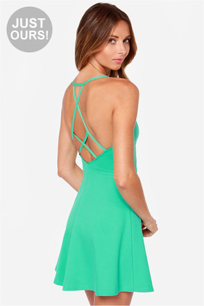 LULUS Exclusive Take Heart Sea Green Dress