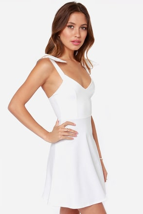 Double Bow-nus Ivory Dress