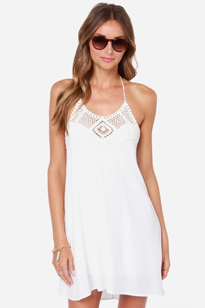 Festival Bound Crochet Black Halter Dress