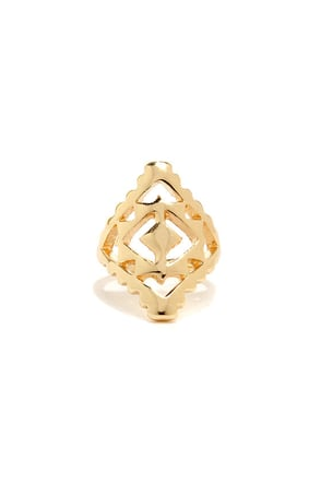 Pharaoh Enough Gold Ring