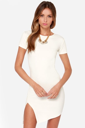 Got the Power Short Sleeve Ivory Dress at Lulus.com!