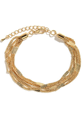 Strands of Flair Gold Chain Bracelet