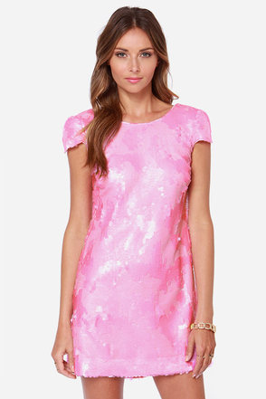 Dress the Population Brooke Pink Sequin Dress