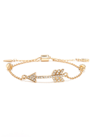 Lovestruck Gold Arrow Bracelet