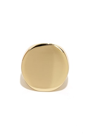 Round and Round Gold Ring
