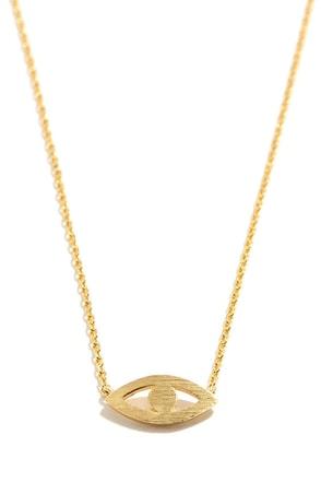 Mind's Eye Gold Eye Necklace