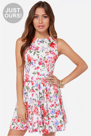 LULUS Exclusive Sixth Scents White Floral Print Dress