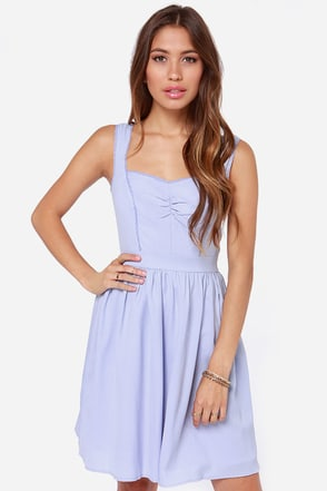 Fleeting Moment Periwinkle Dress