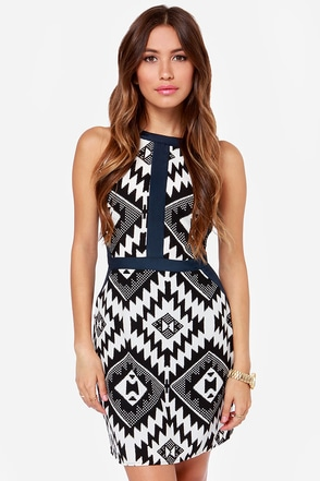 Marrakesh Kiss Black Print Dress