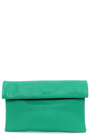 Roll Along Sea Green Clutch