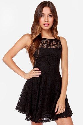BB Dakota Cyrus Black Lace Dress