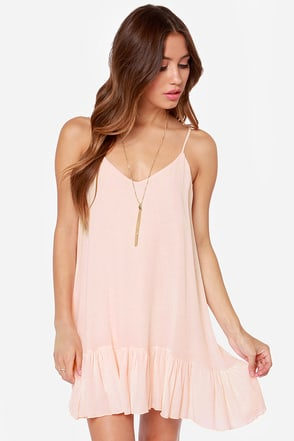 Let It Flow Light Peach Dress