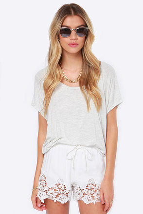 Any Time, Any Lace Ivory Lace Shorts