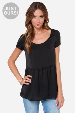 LULUS Exclusive Night Visions Black Top
