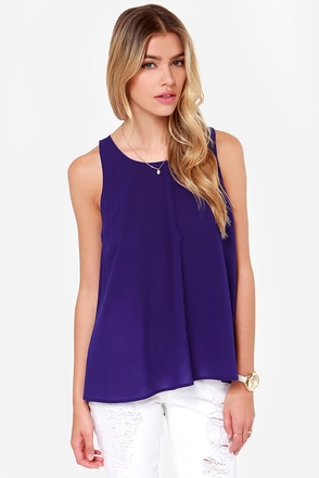 Jack by BB Dakota Barrow Royal Blue Tank Top