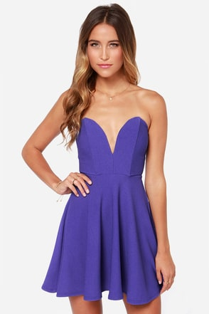 All Good Things Strapless Copper Dress at Lulus.com!