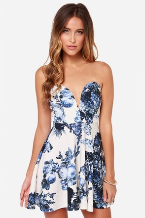All Good Things Strapless Indigo Dress