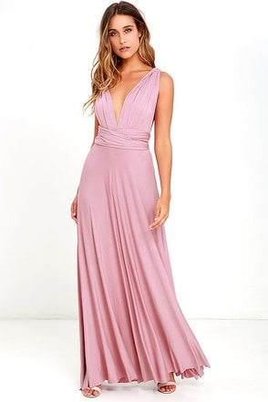 LULUS Exclusive Tricks of the Trade Mauve Maxi Dress 1