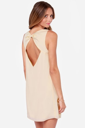 Queen of the Nile Light Beige Shift Dress