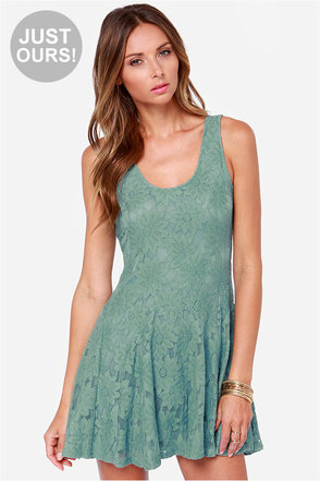 LULUS Exclusive Greenhouse Girl Sage Green Dress