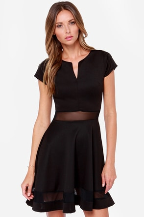 Mesh-issippi Queen Black Dress