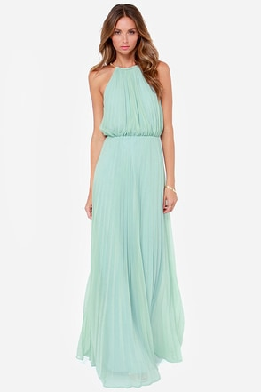Bariano Melissa Sage Green Maxi Dress