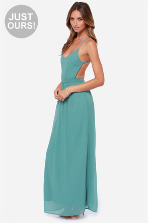 LULUS Exclusive Under the Arbor Backless Sage Green Maxi Dress