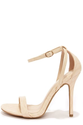 Wild Diva Lounge Adele 94 Light Yellow Ankle Strap Heels