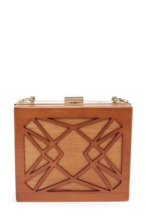 Wood I Ever! Brown Clutch