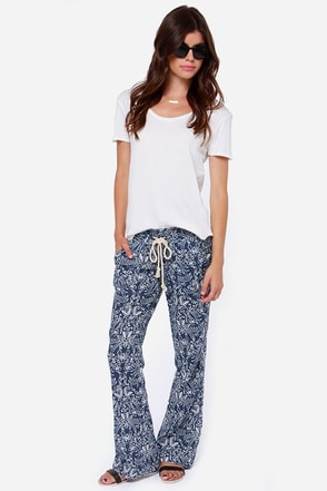 Roxy Ocean Side Blue Print Pants