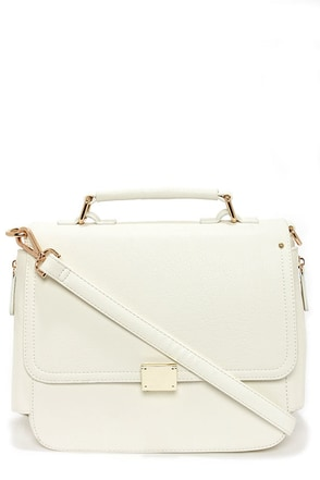 Tip of the Iceberg Ivory Satchel
