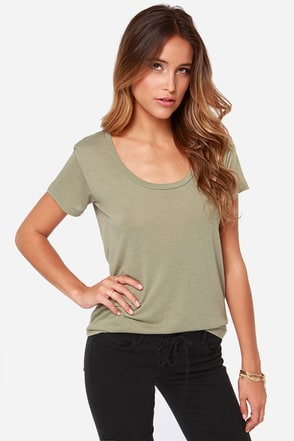 Billabong Essential Boyfriend Olive Green Tee
