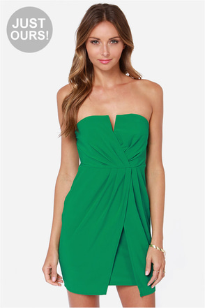 LULUS Exclusive Kauai Cutie Strapless Green Dress