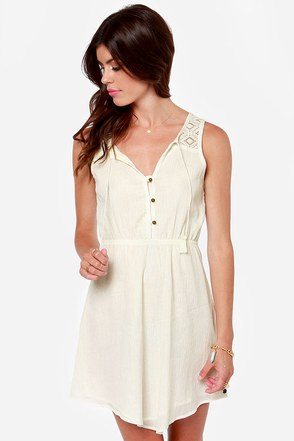Roxy Ricochet Cream Lace Dress