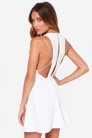 Keepsake Countdown Ivory Mini Dress