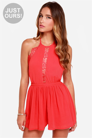 LULUS Exclusive The Best Halter-native Red Romper