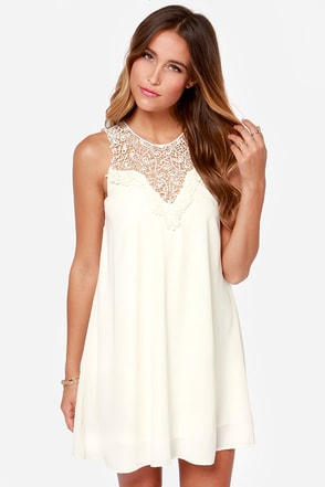Roulette it Roll Sleeveless Cream Dress at Lulus.com!