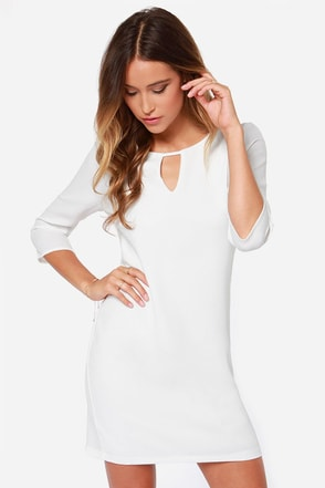 Key to My Heart Ivory Shift Dress