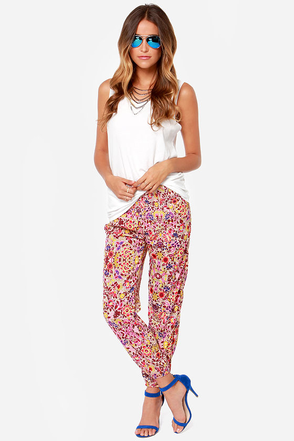 Billabong Midnight Strollz Floral Print Harem Pants