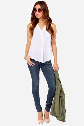 Blank NYC Skinny Classique Dark Wash Skinny Jeans at Lulus.com!