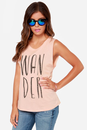 Billabong Wanderin Breeze Blush Muscle Tee