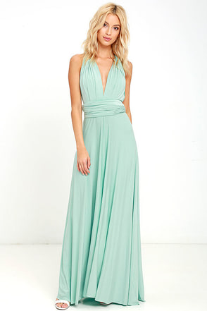 Tricks of the Trade Light Sage Maxi Dress 1