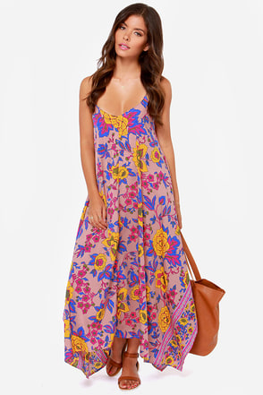 Billabong Mystic Pearl Blush Print Maxi Dress