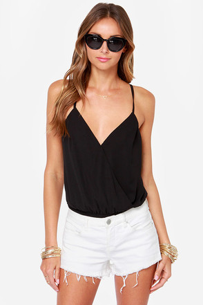 Showstopper Backless Black Bodysuit