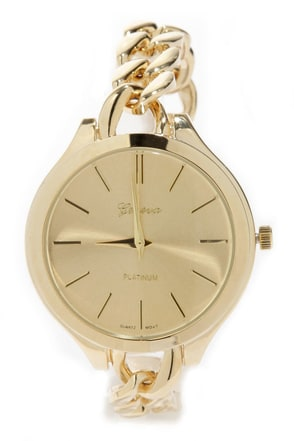 Chains of Pace Gold Chain Watch at Lulus.com!
